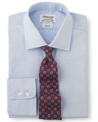 Мужская рубашка светло-синяя T.M.Lewin приталенная Slim Fit (46460)