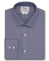 Мужская рубашка темно-синяя T.M.Lewin приталенная Slim Fit (51875)