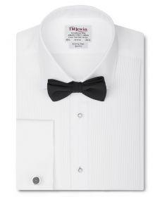 Мужская рубашка под бабочку, под смокинг белая T.M.Lewin приталенная Slim Fit (45252)