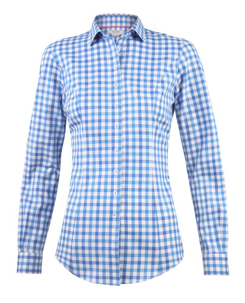 Приталенная рубашка из хлопка в клетку