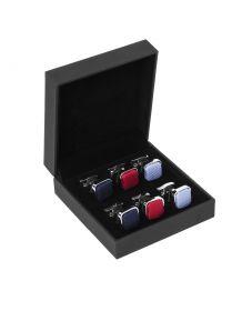 Подарочный набор для мужчин | набор запонок в одном стиле разных цветов